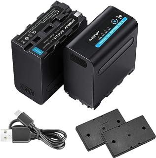SANOOV NP-F970バッテリーNP-F980/F970/F960/F950/F330/F530/F550/F570/F730/F750/F770/F930/F990互換バッテリー大容量2*7800mAh4個ledライト付き対応機...