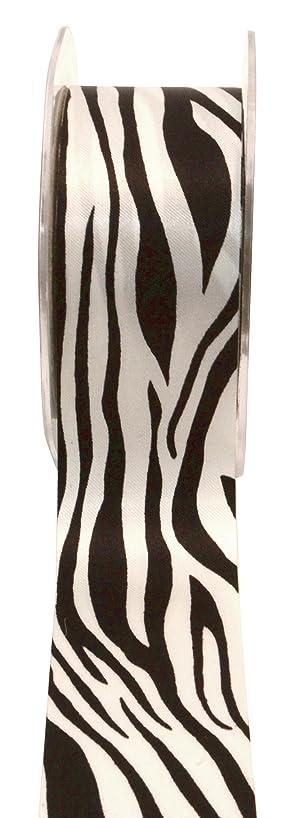 May Arts Single Faced Satin Ribbon Animal Print 1-1/2