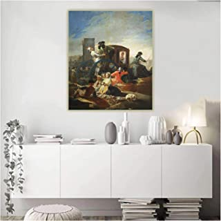 LINXIN Francisco Goya《The Crockery Vendor》Canvas Art Oil Painting Artwork Poster Picture Wall Background Decor -60X80Cm No...