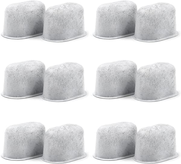 12 Pack Cuisinart Compatible Charcoal Water Filters Removes Chlorine Odors And Others Impurities From Water For Cuisinart Coffee Machines