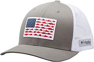 Columbia PFG Fish Flag Snap Back Ball Cap, Breathable, Adjustable