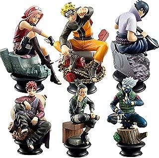 Little Bear Junkers Naruto 6 Piece Set - Kakashi, Sasuke, Sakura, Naruto, Gaara and Shikamaru Chess Pieces