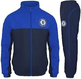 Chelsea Football Club Official Soccer Gift Boys Jacket & Pants Tracksuit Set