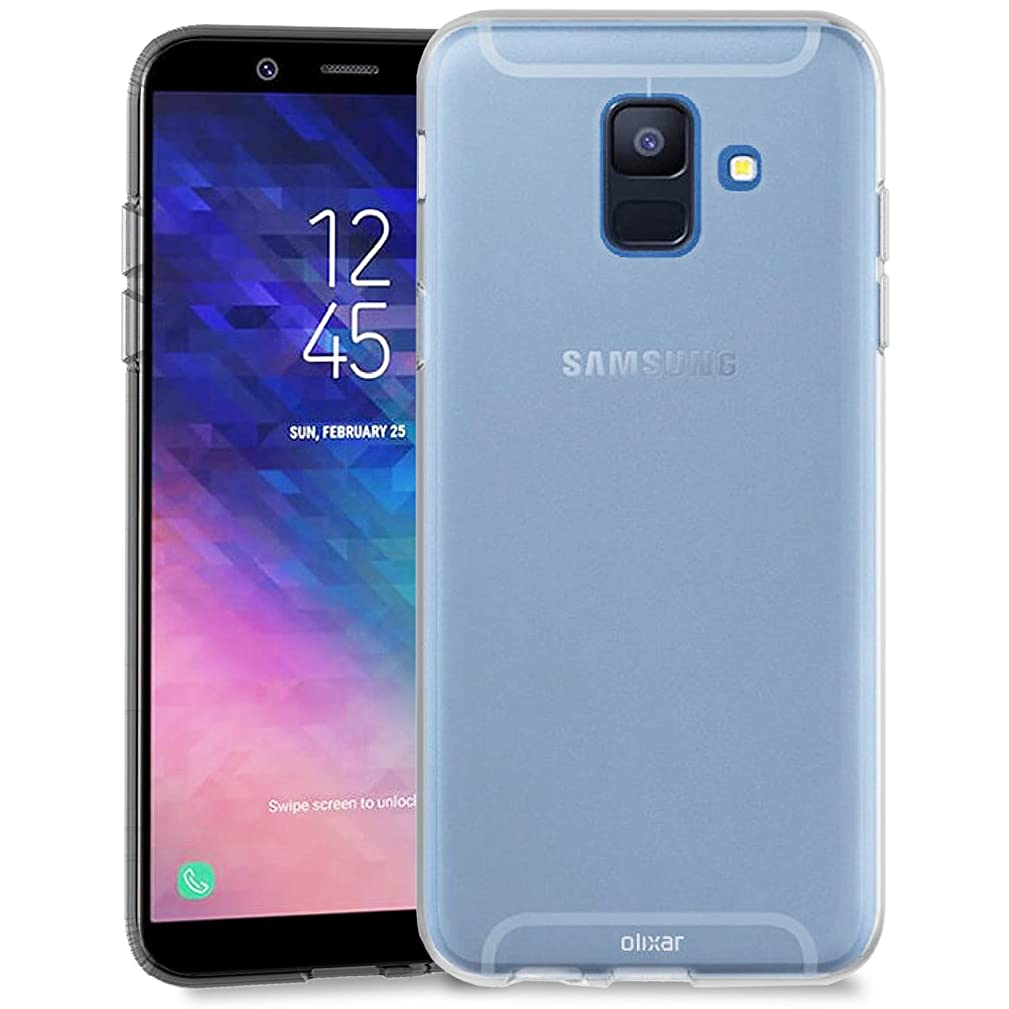 Olixar Samsung Galaxy A6 Clear Case - Slim Gel - Ultra Thin Transparent Cover - 100% Crystal Clear - Flexible Slim Protection Non Slip - Clear