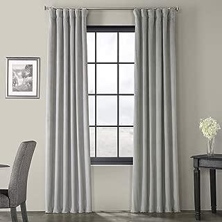 Half Price Drapes VPCH-145002-96 Signature Blackout Velvet Curtain, Silver Grey, 50 X 96