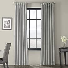 Half Price Drapes VPCH-145002-108 Signature Blackout Velvet Curtain, Silver Grey, 50 X 108