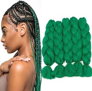 Colorful Bird Yaki kanekalon Braiding Hair Green Jumbo Braiding Hair High Temperature Synthetic Fiber Hair Extensions for Twist Box Braids 5PCS/Lot 90g/pc 26 inches
