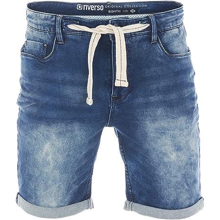 riverso Herren Jeans Shorts RIVPaul Kurze Hose Sommer Bermuda Stretch Denim Short Sweathose Baumwolle Grau Blau Dunkelblau w30 w31 w32 w33 w34 w36 w38 w40 w42