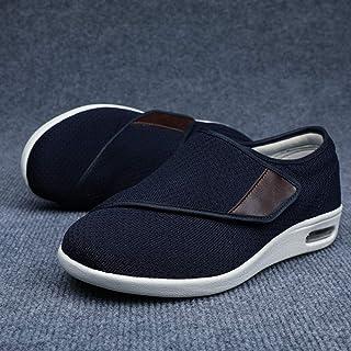 Fasciitis plantaris Air Shoe,Verbredende casual schoenen met klittenband, verstelbare voetzwellende schoenen-blue_45,Antis...