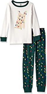 Gymboree Boys' Big 2-Piece Tight Fit Sleeve Long Bottoms Pajama Set