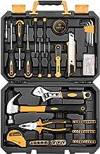 DEKOPRO 100 Piece Home Repair Tool Set,General Household Hand Tool Kit with Plastic Tool..