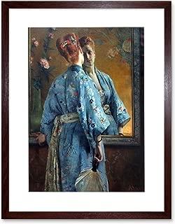 Alfred Stevens LA Parisienne JAPONAISE Old Painting Art Print Frame F12X165