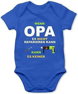 Shirtracer Strampler Motive - Wenn Opa es Nicht reparieren kann kann es keiner - Baby Body Kurzarm für Jungen und Mädchen