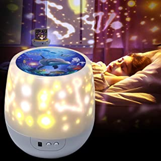 Lights Projector for Bedroom -Shayson Night Lights Projector for Kids Rotation Star Projector Light for Boys Girls Kids Bedroom Kids Projector Night Light Birthday Christmas Gift, 5 Set of Films