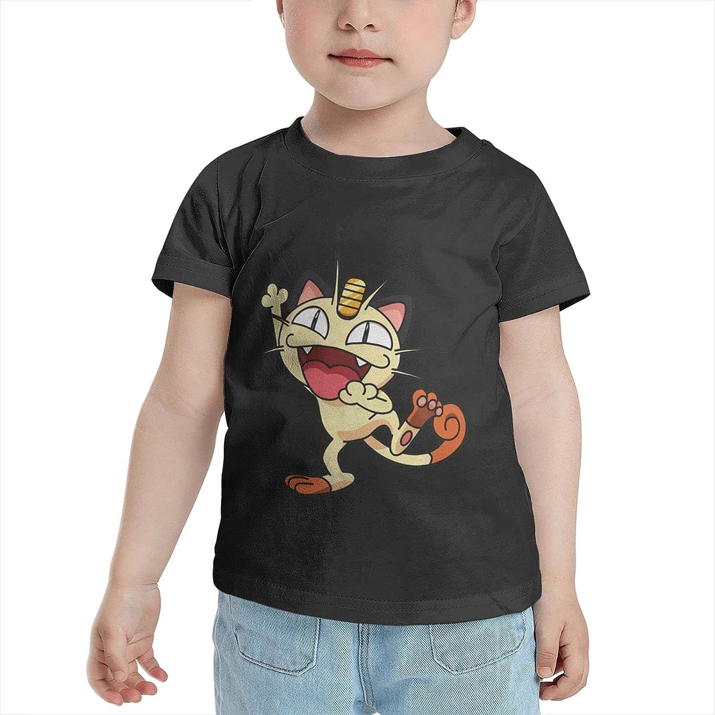 WUSA15UF Poke Meowth T Shirt Boys Child Shirts 3D Print Short Sleeve Tops Tees Tshirts for Boy Girl's Boy's