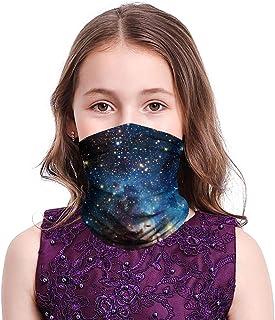 Kids Bandanas Galaxy Tie Dye Face Neck Gaiter Multifunctional UV Protection Headband Scarf Outdoor Balaclava for Boys Girls