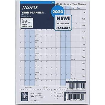 Filofax - A5 Horizontal Year Planner 2020