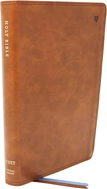 NET Bible, Thinline, Leathersoft, Brown, Thumb Indexed, Comfort Print: Holy Bible