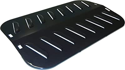 """Contemporary Home Living 16.75"""" Black Heat Plate for Backyard Grill and Uniflame Gas Grills"""