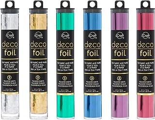 Deco Foil - Transfer Sheets - 2018 Colours - Silver Shattered Glass, Gold Shattered Glass, Jade, Denim, Plum & Wild Cherry...