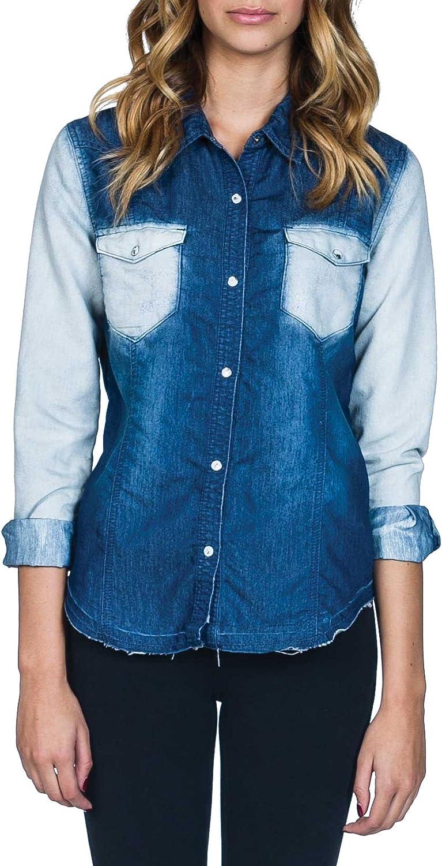 Billabong Women's Gone To Town L S Top Shirt Well Worn