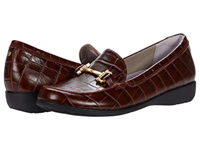 Aravon Abbey Loafer (Brown Croco) Women