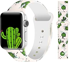 Bertiveny Floral Band Compatible with Apple Watch 40mm 38mm 44mm 42mm Soft Silicone Sport Bands for Iwatch Series 4 3 2 1