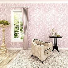 HANMERO®Barroco diseño Papel pintado vintage flores Murales pared no tejido papel de pared dormitorios/salón/hotel/color rosa, 0.53M*10M