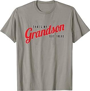 Thats My Grandson Out There Baseball T Shirt Grandma Grandpa