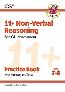 11+ GL Non-Verbal Reasoning Practice Book & Assessment Tests - Ages 7-8 (with Online Edition)