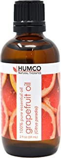 Humco Natural Therapies GRAPEFRUIT Oil with Dropper, 2 Oz,-100% Pure Essential Oil - Improve Appearance of Skin, Use Before and During Workout, Hair Nourishment