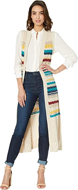 3664 Sweater Knit Duster Vest