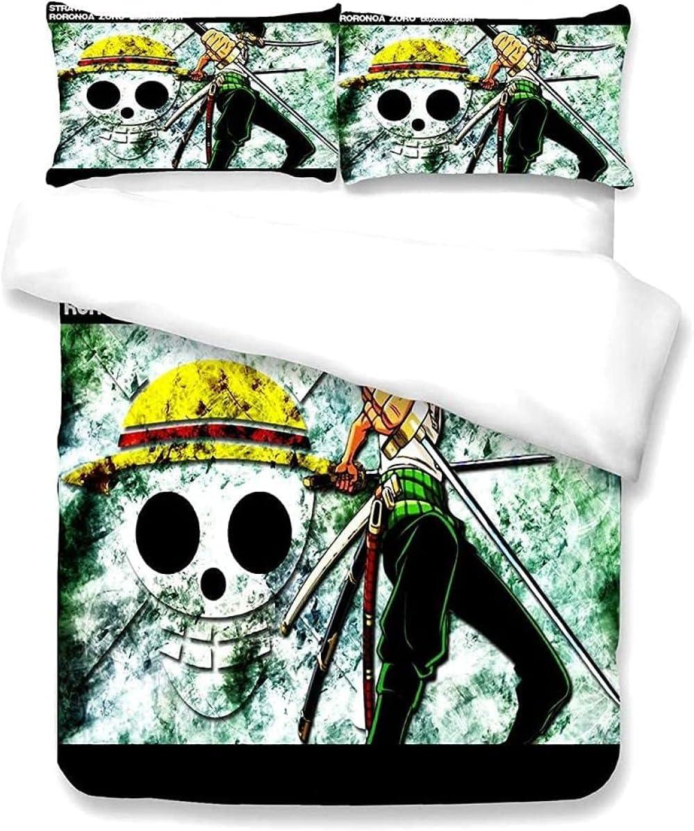 Anime One Piece Outlet SALE Roronoa Zoro 3D Comforter Cover Print Duvet famous Set