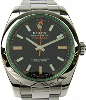 Rolex Milgauss Mechanical (Automatic) Black Dial Mens Watch 116400GV (Certified Pre-Owned)