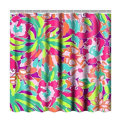 Bathroom Shower Curtain Sets with 12 Hooks d0d73fb548a0