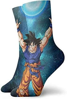 Bigtige, Calcetines para hombre Calcetines coloridos de compresión de pintura Dragon Ball Calcetines de tobillo de lujo