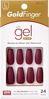 Kiss Gold Finger Gel Glam 24 Nails GFC10 MAUVE