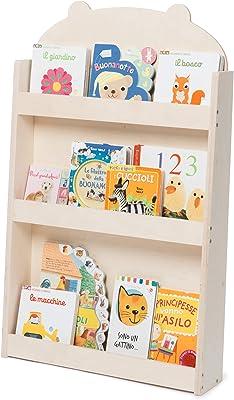 Homfa Librería Infantil para Niños Estantería de Pared ...