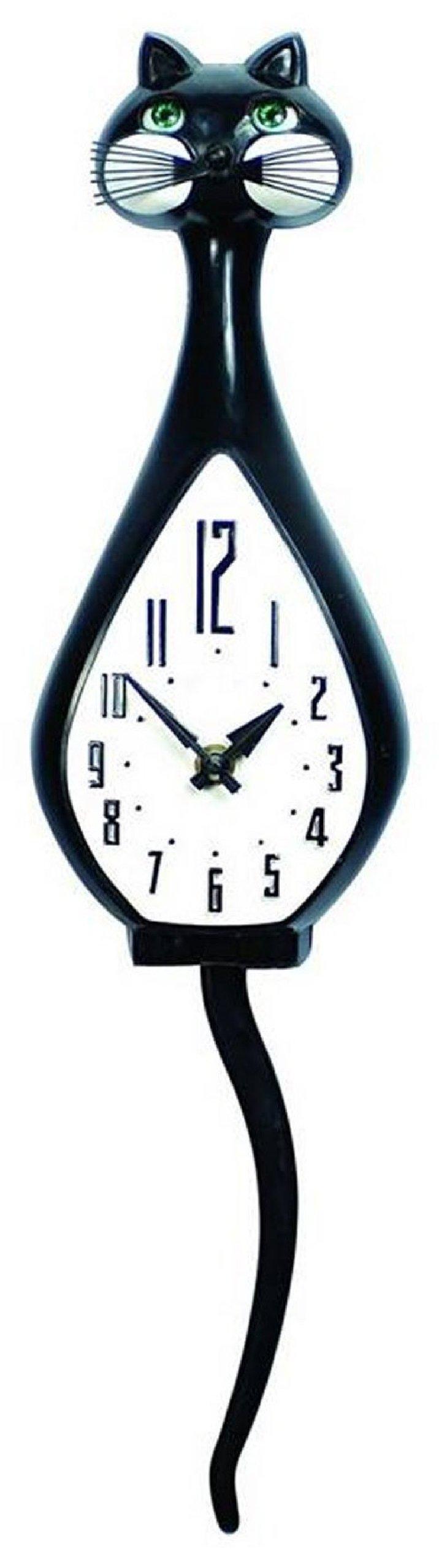 Simone Black Animated Wall Clock