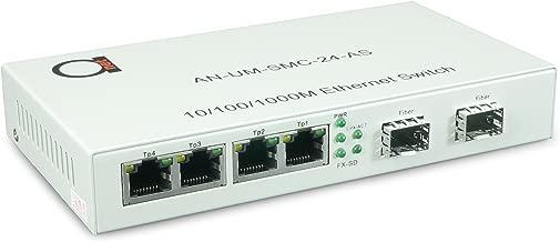 2 x Open SFP Slot + 4 x UTP Cat5e/Cat6 10/100/1000 Copper Ports - Gigabit Ethernet - Fiber Media Converter - Mini Switch - AutoSensing - SFP Slot Supporting Any Mini GBIC/SFP Gigabit Type