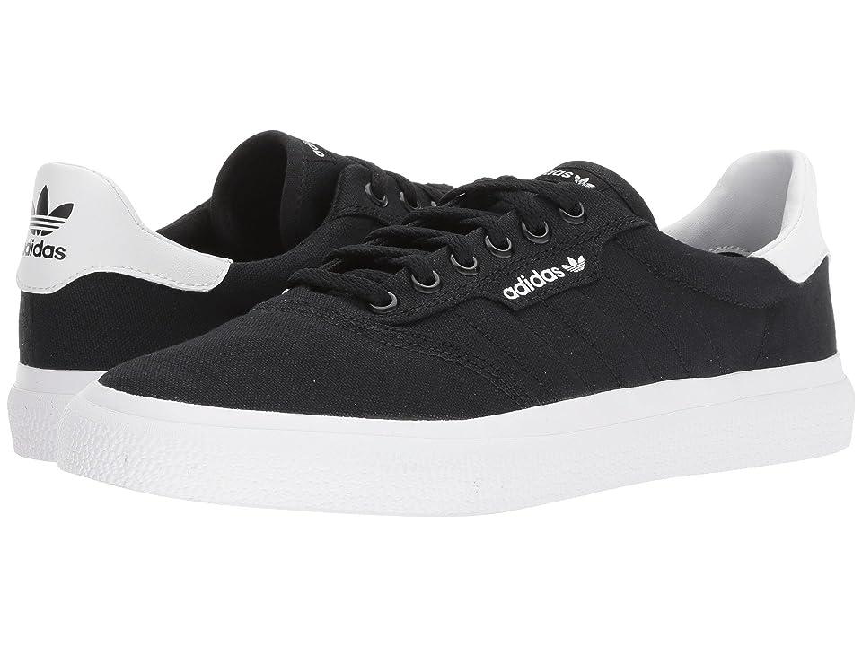 Image of adidas Skateboarding 3MC (Black/Black/White) Men's Skate Shoes