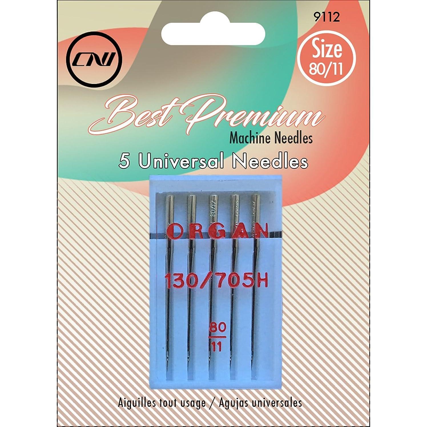 Clover Best Premium Machine Universal Needles 5 Piece