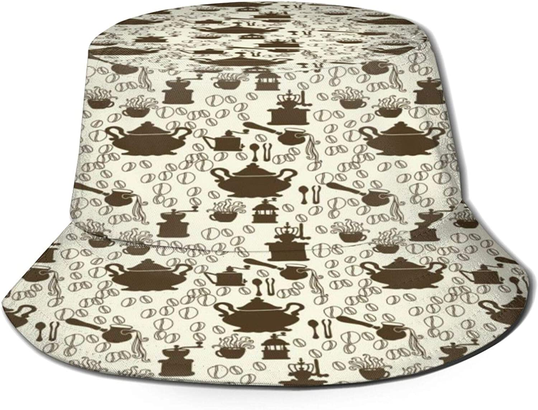 Retro Black Coffee Set Ranking TOP14 Pattern Hat Unisex Summer Miami Mall Sun Bucket
