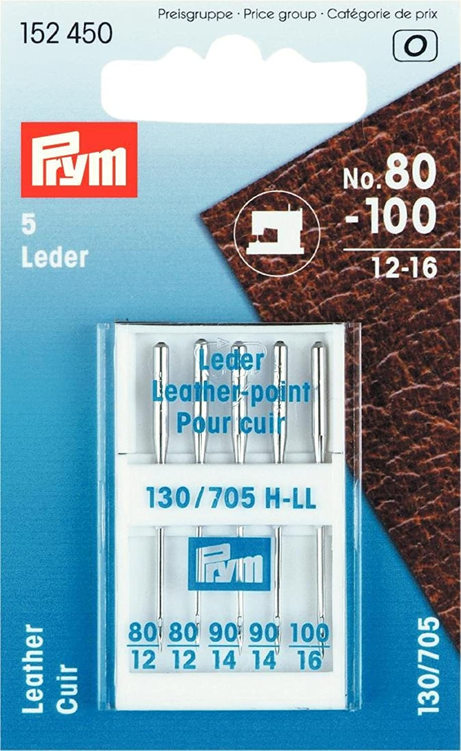 Prym 152450 Special Sewing Machine Needles with Flat Shank