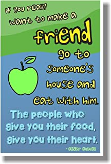 If You Really Want To Make A Friend... - Cesar Chavez - NEW Classroom Motivational Poster