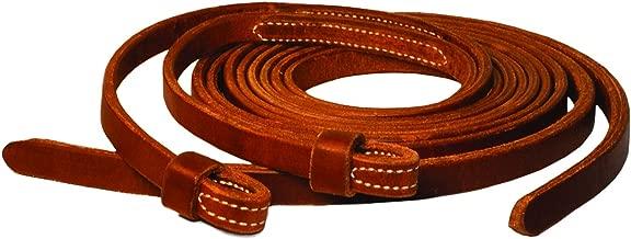 Perri's Western Loop End Leather Reins, Med Oil, 8'