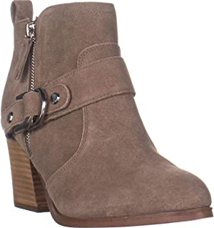 Marc Fisher Victa Buckle Ankle Boots, Medium Natural Suede