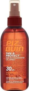 Piz Buin Tan & Protect Protector Solar Acelerador del Bronceado, Aceite en Spray SPF 30, Protección Alta - 150 ml