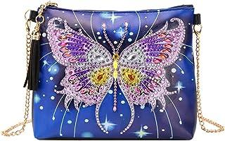 Coxeer DIY Diamond Painting Leather Crossbody Bag Purse Clutch Shoulder Bag for Ladies
