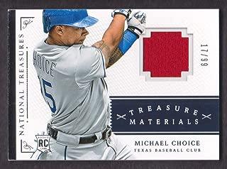 2014 Panini National Treasures Baseball Treasure Materials #37 Michael Choice Jersey 17/99 Texas
